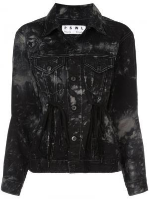 Джинсовая куртка PSWL на кулиске Proenza Schouler White Label. Цвет: серебристыйlake