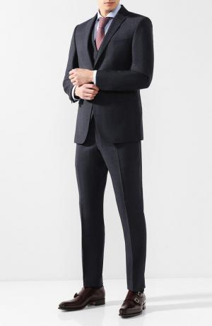 Шерстяной костюм-тройка Windsor. Цвет: темно-синий
