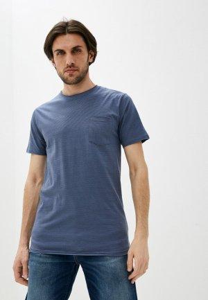Футболка Indicode Jeans. Цвет: синий