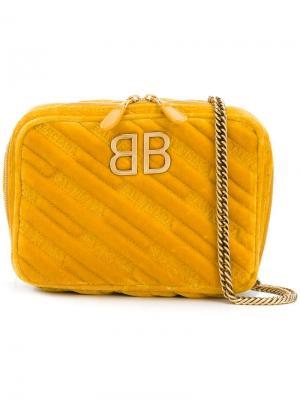 Мини-сумка BB Reporter XS Balenciaga. Цвет: оранжевый