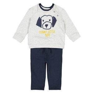 Комплект свитшот и брюки спортивные La Redoute. Цвет: синий