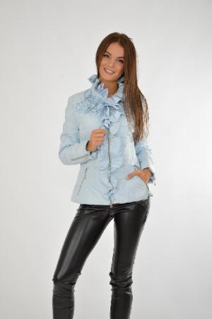Куртка RASLOV. Цвет: голубой