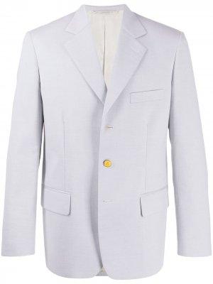 Блейзер с карманами Marni. Цвет: серый