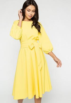 Платье Eva. Цвет: желтый