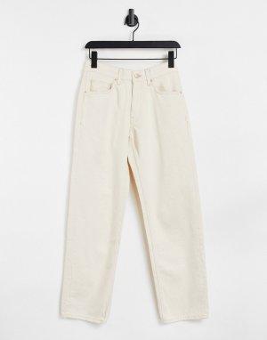 Светло-бежевые мешковатые джинсы в стиле oversized -Светло-бежевый цвет Bershka