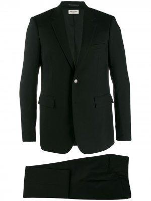 Классический костюм-двойка Saint Laurent. Цвет: черный