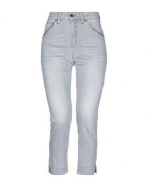 Джинсовые брюки-капри ANGELO MARANI. Цвет: серый