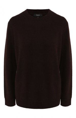 Кашемировый пуловер Theory. Цвет: коричневый