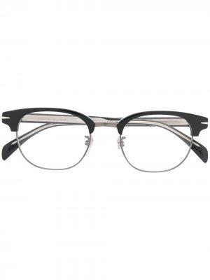 Очки в квадратной оправе Eyewear by David Beckham. Цвет: черный