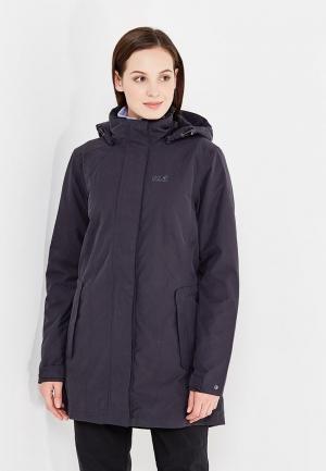 Куртка утепленная Jack Wolfskin MADISON AVENUE COAT. Цвет: черный