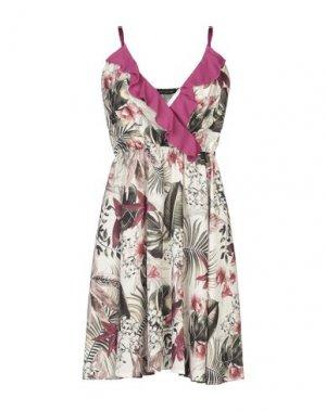 Короткое платье FORNARINA. Цвет: слоновая кость