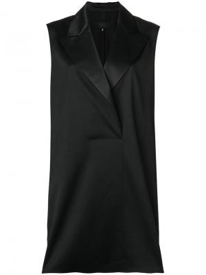 Расклешенный длинный жилет Mm6 Maison Margiela. Цвет: черный