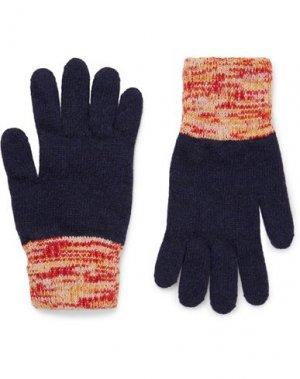 Перчатки OLIVER SPENCER. Цвет: темно-синий