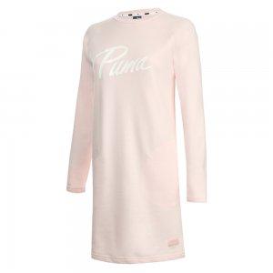 Платье Athletics Sweat Dress TR PUMA. Цвет: розовый