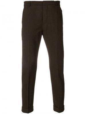 Классические брюки Calvin Klein. Цвет: коричневый