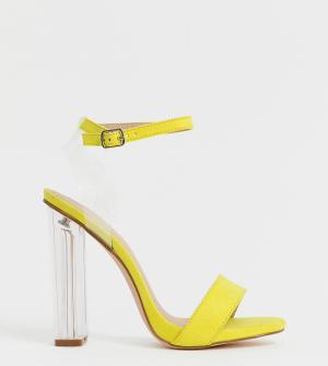 Прозрачные сандалии для широкой стопы Truffle Collection. Цвет: оранжевый