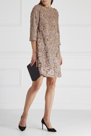 Кружевное платье HOSS INTROPIA. Цвет: розовый
