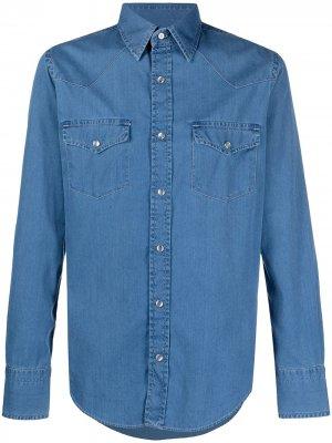 Джинсовая рубашка на кнопках Tom Ford. Цвет: синий