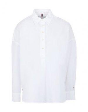 Pубашка TOMMY HILFIGER. Цвет: белый