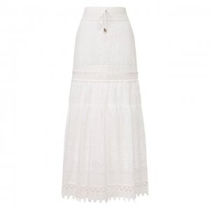 Хлопковая юбка Melissa Odabash. Цвет: белый