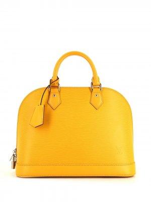 Сумка-тоут Alma 2014-го года Louis Vuitton. Цвет: желтый