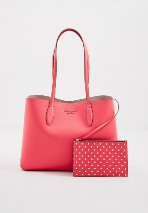 Сумка и кошелек Kate Spade. Цвет: розовый