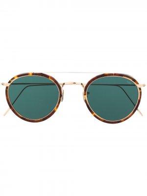 Солнцезащитные очки-авиаторы черепаховой расцветки Eyevan7285. Цвет: коричневый