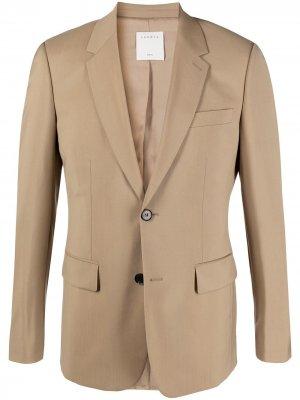 Однобортный пиджак Sandro Paris. Цвет: нейтральные цвета