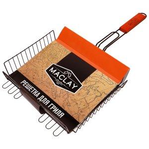 Решётка-гриль для мяса 28 х 31 6 см, premium, глубокая антипригарная Maclay