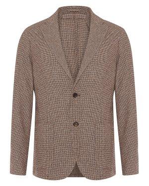 Пиджак 979JA3184 50 коричневый Eleventy. Цвет: коричневый