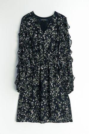 Шифоновое платье с оборками LOVE REPUBLIC
