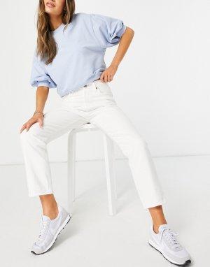Белые укороченные джинсы Levis 501-Голубой Levi's