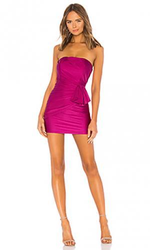 Мини-платье без бретель jem Michael Costello. Цвет: фуксия