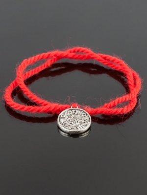 Браслет-оберег красная нить - скорпион бп9947 Бусики-Колечки