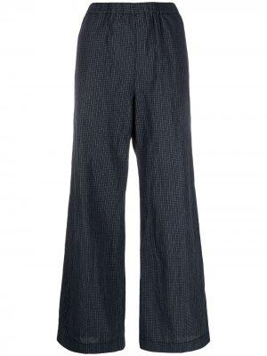 Широкие брюки в клетку Aspesi. Цвет: синий