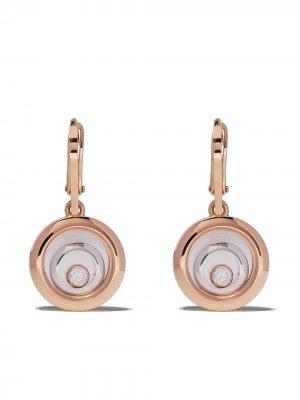 Серьги Happy Spirit из розового и белого золота с бриллиантами Chopard. Цвет: розовый
