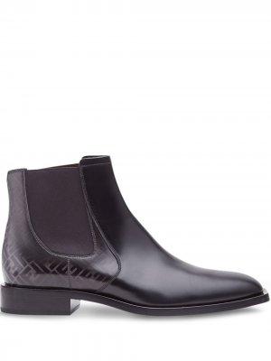 Ботинки челси с логотипом FF Fendi. Цвет: черный