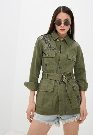 Куртка джинсовая Liu Jo. Цвет: хаки