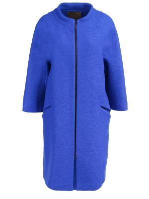Шерстяное пальто Chapurin. Цвет: синий