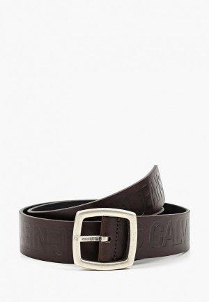 Ремень Calvin Klein Jeans. Цвет: коричневый