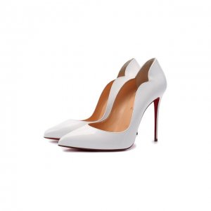 Кожаные туфли Hot Chick 100 Christian Louboutin. Цвет: белый