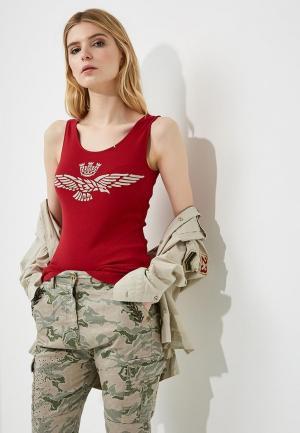 Майка Aeronautica Militare. Цвет: красный