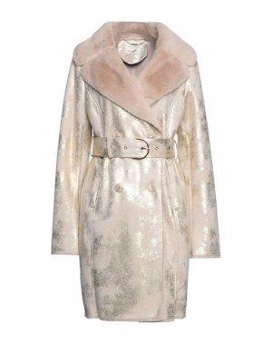 Пальто FRACOMINA. Цвет: пудровый