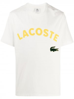 Футболка оверсайз с логотипом Lacoste. Цвет: белый