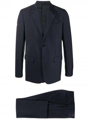 Костюм-двойка с однобортным пиджаком Jil Sander. Цвет: синий
