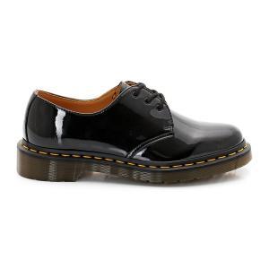 Ботинки-дерби из лакированной кожи на шнуровке DR MARTENS. Цвет: черный лак