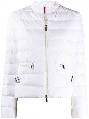 Куртка-бомбер на молнии Moncler. Цвет: белый