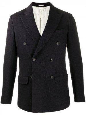 Двубортный пиджак Massimo Alba. Цвет: синий