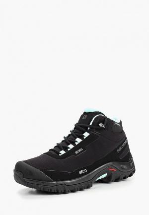 Ботинки Salomon SHELTER CS WP. Цвет: черный