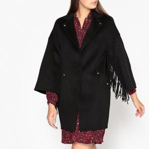 Пальто длинное с застёжкой на пуговицы IVY BERENICE. Цвет: черный